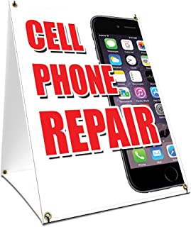 A-Frame Sidewalk Cell Phone Repair Sign with Graphics On Each Side | 18