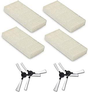 REYEE 4 cepillos Laterales 4 filtros HEPA para AMIBOT Pure, Pulse y Prime