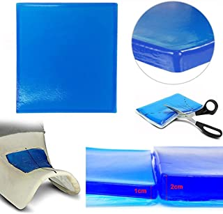 comprar comparacion Domybest - Cojín de gel para moto, de absorción de choque para asiento de moto, cojín amortiguador, suave, cómodo, azul
