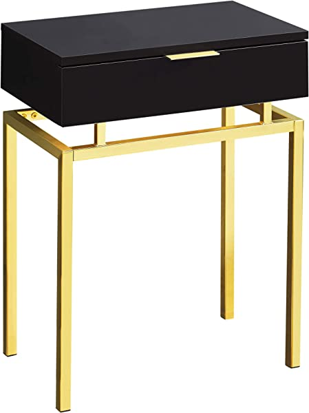 Monarch Specialties Accent Table Rectangular Cappuccino Gold