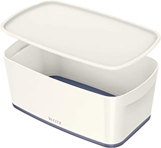 Leitz Boîte de Rangement 5 Litres avec Couvercle, Waterproof, Blanc