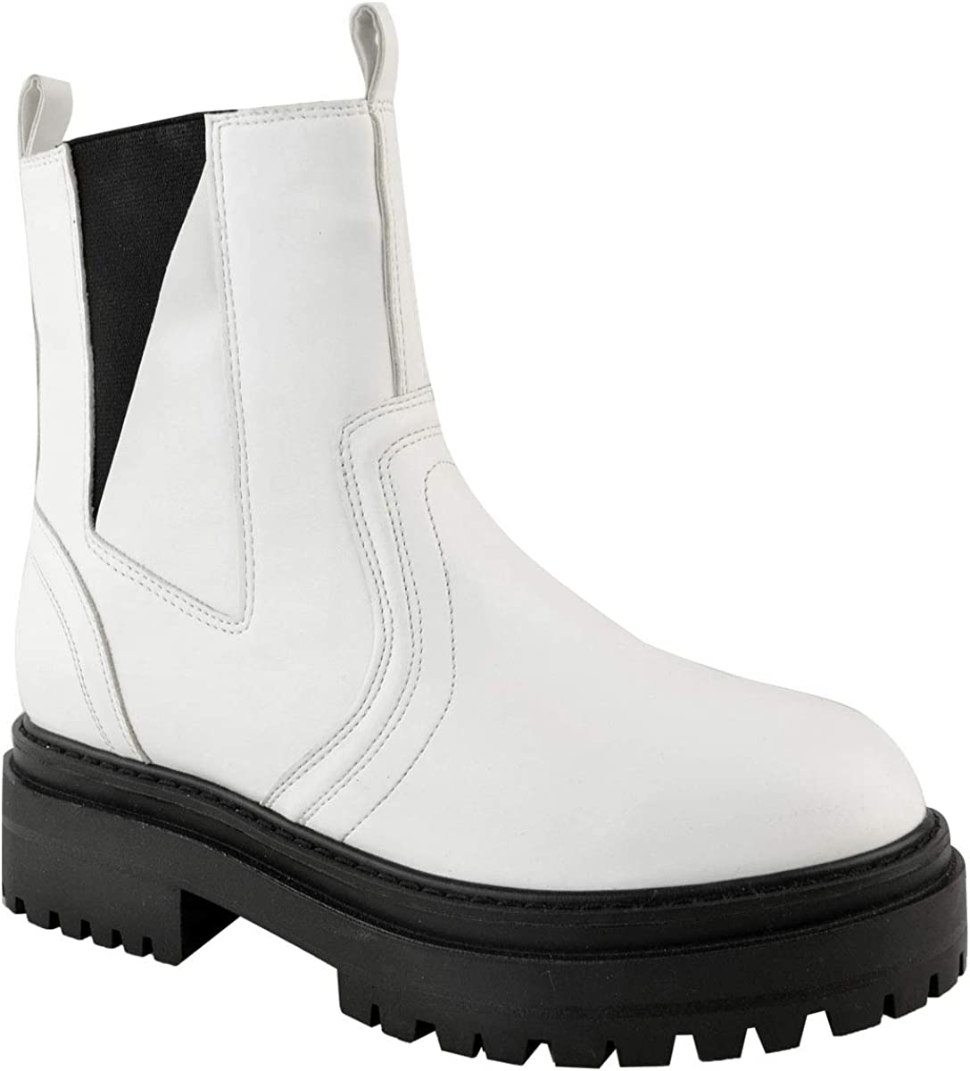 Womens Chunky Chelsea Ankle New popularity Boots Comfy Winter Soles Thick Pull Very popular