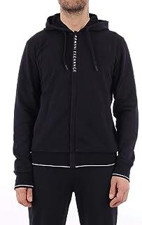 Armani Exchange Men's logo zip full zip hooded sweatshirt hoodie