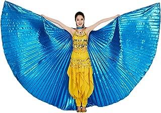 Alas de ISIS, Belle Dance ISIS Wings con Bastones/Varillas telescópicas Disfraz de Belly Dance para Mujer Profesional Alas de ISIS Carnival Costumes