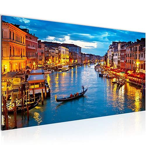 Bilder Venedig Italien Wandbild Vlies - Leinwand Bild XXL Format Wandbilder Wohnzimmer Wohnung Deko Kunstdrucke Blau 1 Teilig - MADE IN GERMANY - Fertig zum Aufhängen 604312a