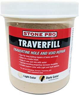 Stone Pro Traverfill - Travertine Hole and Void Repair - 1 Pound - Dark