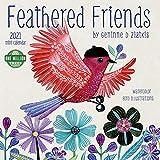 Feathered Friends 2021 Mini Wall Calendar (7' x 7', 7' x 14' open)