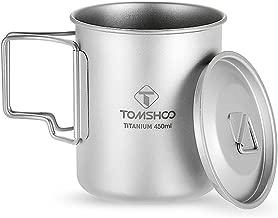300 ml // 400 ml // 450 ml // 750 ml Godyluck Ultraleichter Titanbecher im Freien Camping-Picknick-Wasserbecher mit klappbarem Griff tragbarer Becher