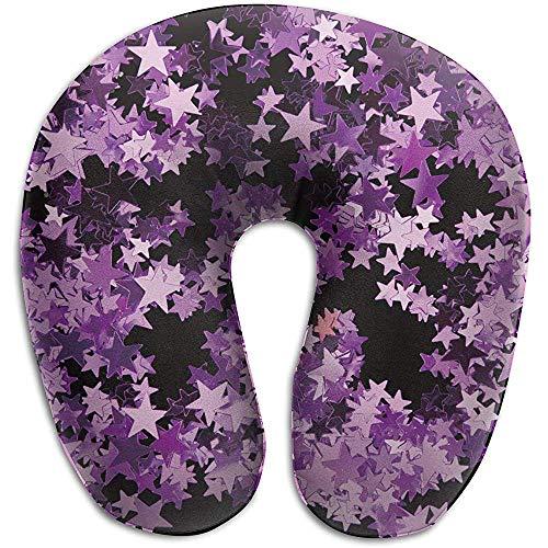 Speciale shop nekkussen voor auto, nekkussen in de vorm van ster van schuim violet A U-vorm met pijn aan de hals