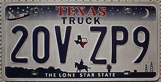USA_Auswahl_von_Fahrzeugschildern USA Nummernschild Texas Truck   License Plate US Kennzeichen Cowboy Reiter Motiv   Blechschild