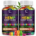 (2 Pack) GPGP Greenpeople Hemp Gummies 60,000mg Extra Strength -120ct - 100% Natural Hemp Oil Infused Gummies Bear Edibles Candy, Good for Аnxiety, Strеss, Sleep and Calm Mood