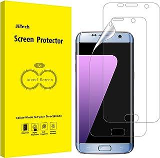 JETech Protector de Pantalla Compatible Samsung Galaxy S7 Edge (NO para S7), Alta Definición TPU, Compatible con Funda, 2 Unidades