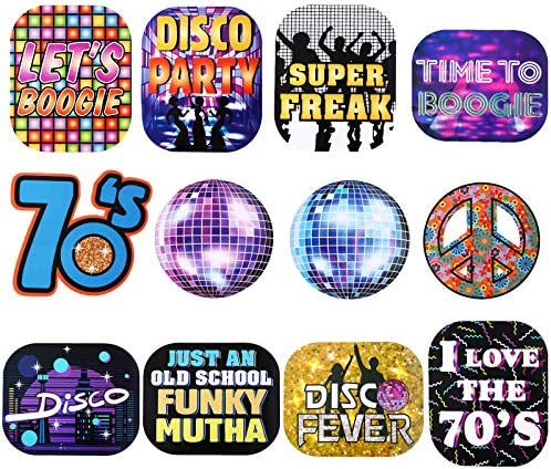 24 Pieces 70s Throwback Disco Party Signs Cutouts Disco Party Decorations Disco Theme Party product image