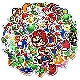 Pegatinas de 15 unidades, no repetir Super Mario Game impermeable para bricolaje, portátil, bicicleta, maleta,...