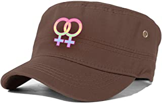 VJJ AIDEAR Lesbian Pride Adult Flat Cap Fashion Casual Cool Hat Printed Cap Black
