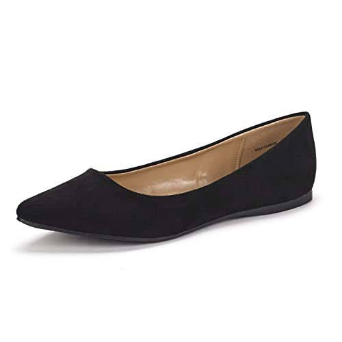 d45c02d0b DREAM PAIRS Sole Classic Fancy Women's Casual Pointed Toe Ballet Comfort  Soft Slip On Flats Shoes