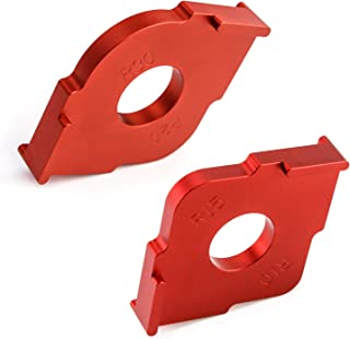 QWORK Set of 2 Radius Jig Router Template, Rounded Corners Router Bit Templates for Routing Rounded Corners R10 R15 R20 R30