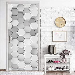 Dana Cronin No Glue Privacy Window Film Glass Sticker,3D Geometric Door Stickers Home Decor Vinyl Waterproof Wallpaper for Doors Living Room Bedroom DIY Cat Posters Mural Wall Decals (15 x 78.7 Inch)
