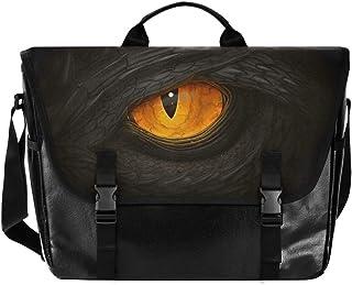 Bolsa de lona para hombre y mujer, diseño de dragón de horror, color amarillo