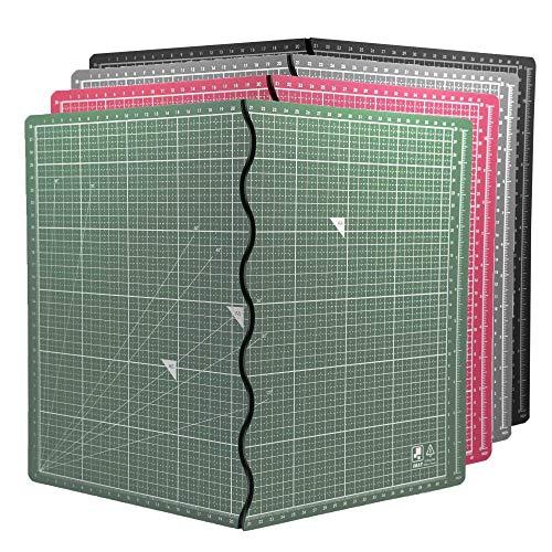 環境無毒 A3 カッターマット折り畳み式 簡単便利 筆記、絵画、彫刻多機能 台湾製 (深藍)