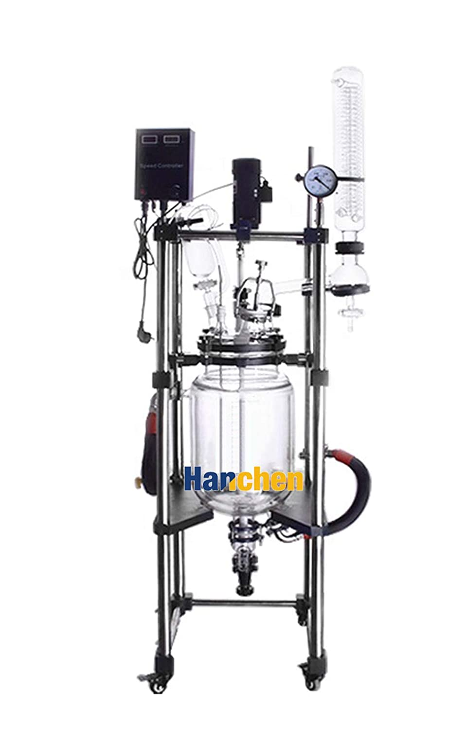 Hanchen 20L Double Layer Glass Reactor Double Jacketed Agitated ...