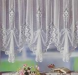 Fertiggardine, Vorhang, Gardine reinweiß mit Universalschienenband (Kräuselband) bereits hochgerafft/ vordekoriert. Leicht an allen gängigen Gardinenschienen und Gardinenstangen...