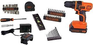 BLACK+DECKER LDX50PK - Juego de taladro eléctrico de ion-litio, máximo 20 voltios, con 44 accesorios para trabajos