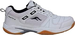 FOOTFIX Boy's Squash White (Non-Marking) Gym/Badminton Shoes
