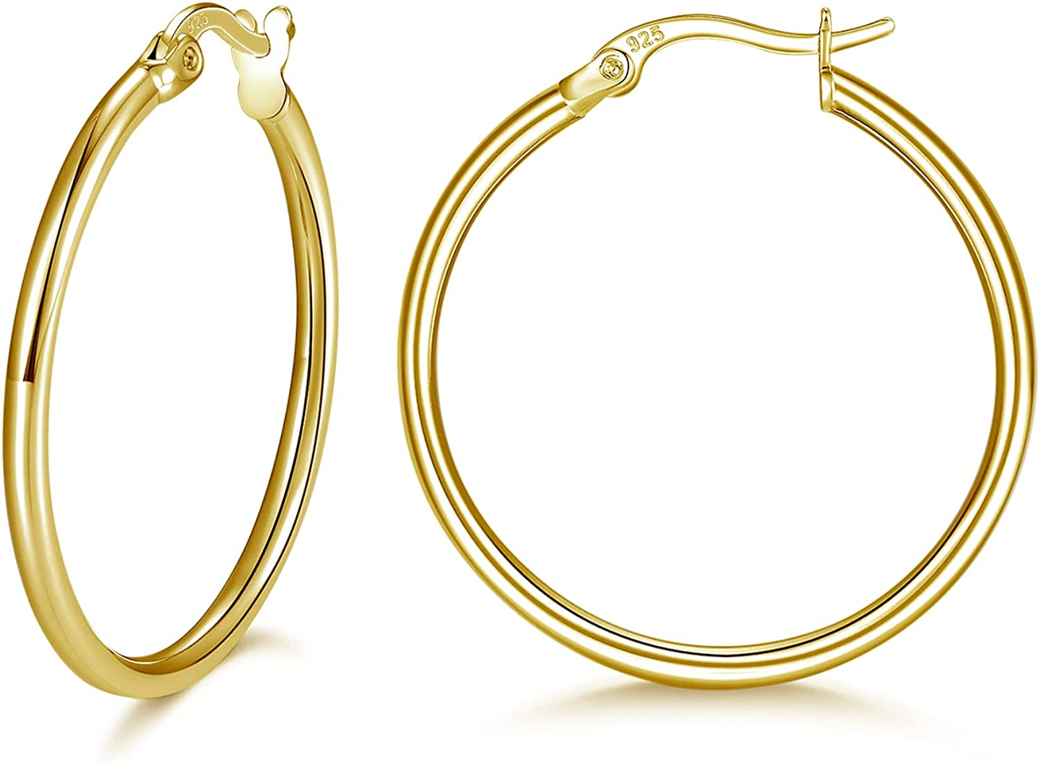 GULICX Sterling Silver Small 5% OFF Hoop H Stud Earrings Hypoallergenic Al sold out.