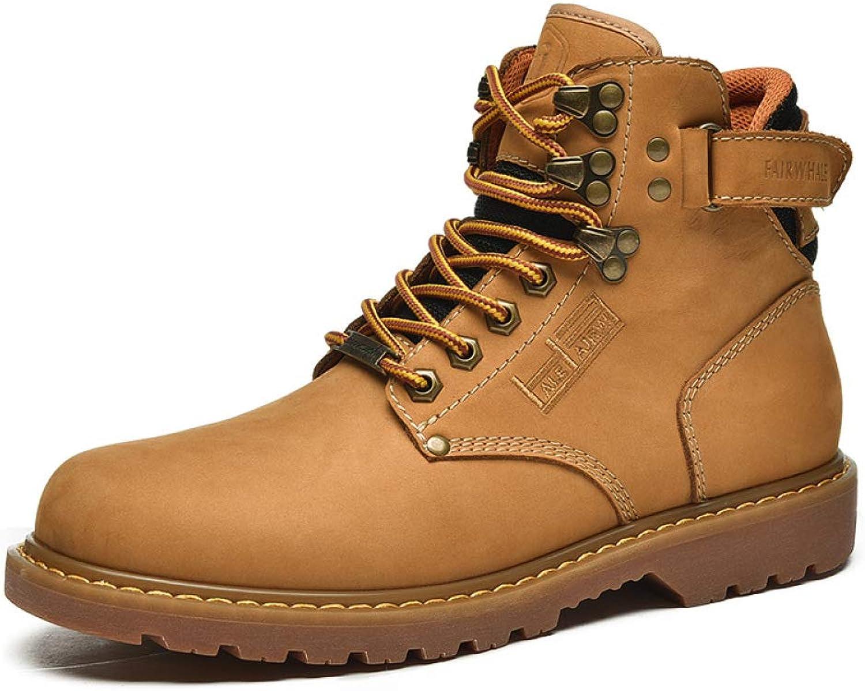 Stiefel Herren Mnner Winter Rutschfest Am Wrmsten Martin Schnee Stiefel Leder Handgefertigt Winter Schuhe Gre  38-43