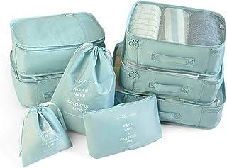 KQP Sac De Rangement pour Vêtements 8 Pièces Organisateurs d'emballage De Bagages Stockage Sacs De Vêtements Imperméables ...