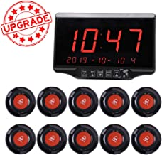 Wireless Calling System Restaurant Pager Customers Patient Caregiver Alert Pager System for Restaurant Hospital Church Office Cafe Shop Smart Nurse Call System 1 Display Receiver and 10 Call Button