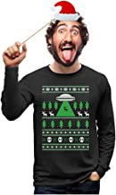 UFO Alien Reindeer Abduction Ugly Christmas Sweater Long Sleeve T-Shirt