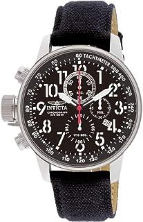 """Invicta 1512 I""""Force"""" Reloj de acero inoxidable con gamuza y correa de piel, color negro"""
