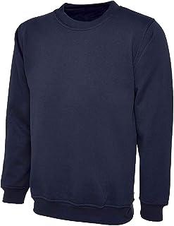xpaccessories Mens Plain Long Sleeve Classic Raglan Fleece Sweatshirt Jumper Sweater Pullover Top UK Size S-2XL