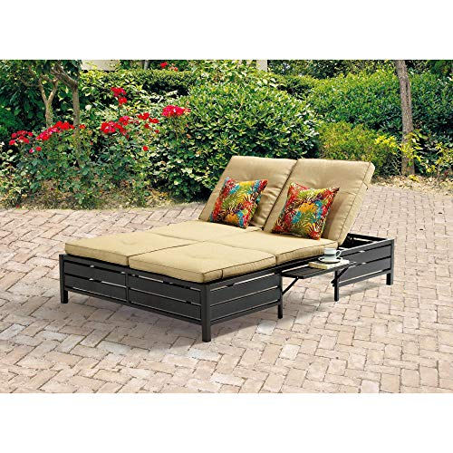 Double Chaise Lounger - This red stripe outdoor chaise lounge is comfortable sun patio furniture Guaranteed which can also be used in your garden, near your pool, or on your deck or lawn. The chaise longue or longe is a great recliner sofa chair.