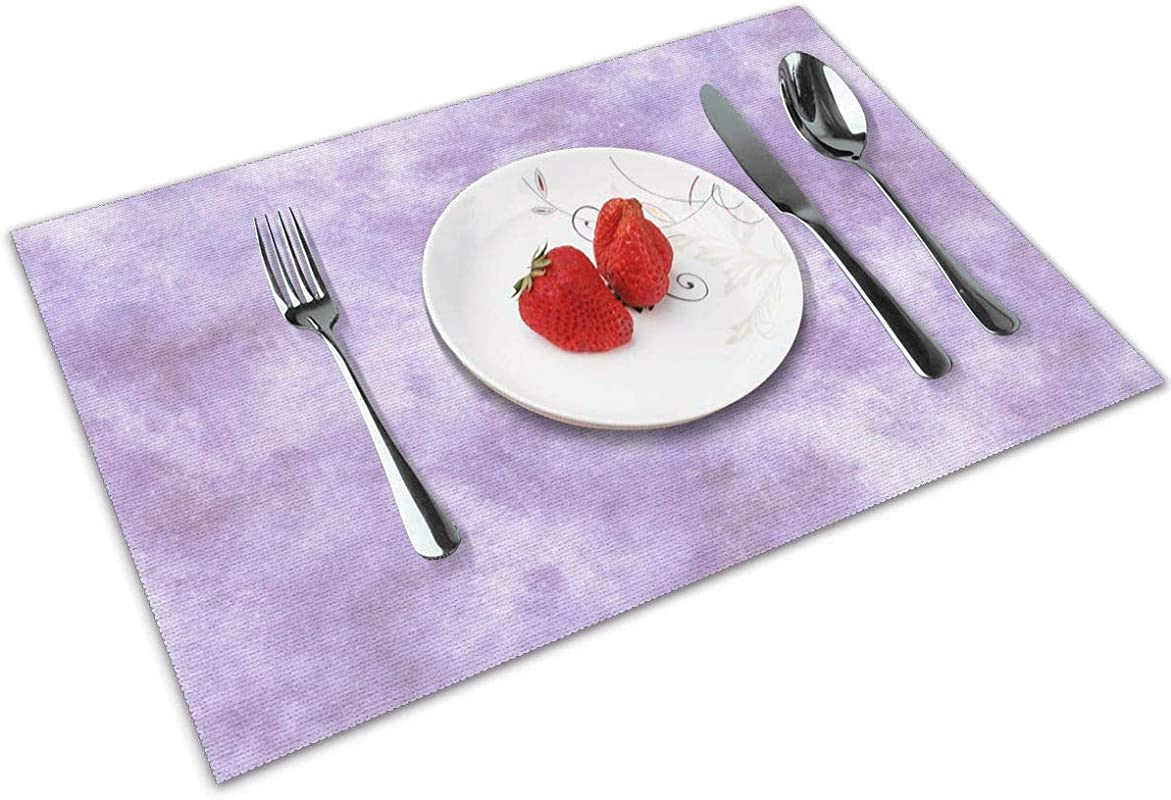 Watercolor Galaxy Lilac Purple Table Mats Placemats Countertop Protection For Kitchen Dining Table Heat Resistant Baking Mat