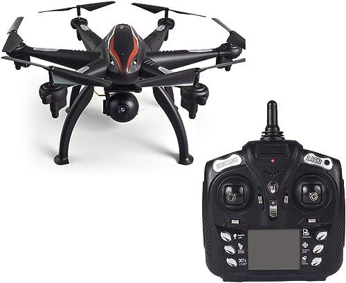 Comomingo L100 6-Achsen 1080P Weißwinkel 2,4G RC Drohne Quadcopter Flugzeuge WiFi FPV GPS (Schwarz