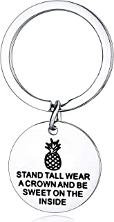 Graduation Gifts Keychain Women Teen Girls Boys Inspirational Pineapple Gifts Best Friend