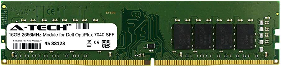 A-Tech 16GB Module for Dell OptiPlex 7040 SFF Desktop & Workstation Motherboard Compatible DDR4 2666Mhz Memory Ram (ATMS283829A25823X1)