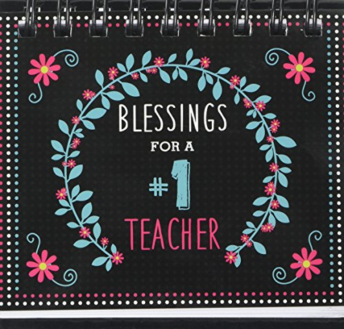 """Blessings for a #1 Teacher"" -Perpetual Calendar—Teacher Desk Calendar w/ Biblical Inspiration: Wired Coiled 
