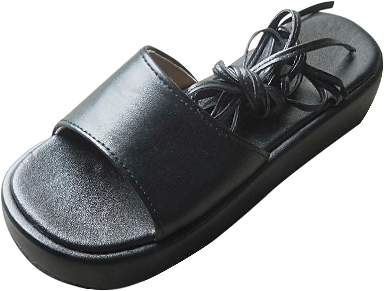 USYFAKGH Platform Sandals Women's Fashion Platform Sandals Cross