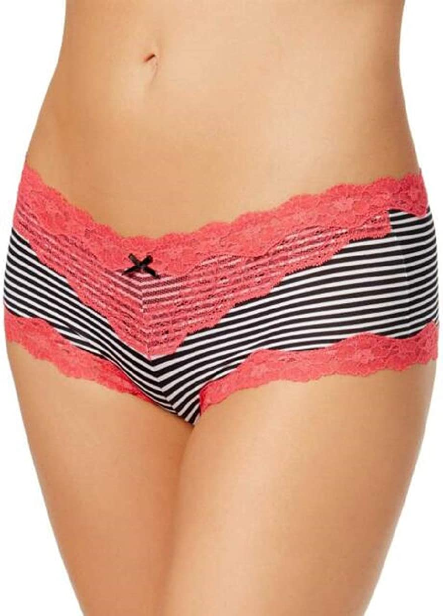 Maidenform Womens Cheeky Panty Micro with Scallop Lace Trim Hipster Panty