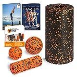 Blackroll Orange (Das Original) - Die Selbstmassagerolle - Starter-Set Standard inkl. Übungs-DVD, Übungsposter & Booklet