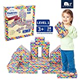 MINIWHALE Deluxe Jumbo Cardboard Blocks 24-Pack Extra-Thick Cardboard Building Blocks Mini Whale Paper Brick Toy