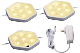 BLACK+DECKER LEDUC-PUCK-3WK LED Puck Light Kit, Tool-Free Install, Dimmable, 3-Pack, Warm White
