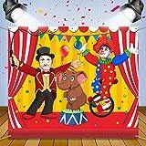 Décoration de Fête de Cirque de Carnaval Bannière de Porte de Photo de Carnaval Accessoires de Toile de Fond, Bannière de Porte de Photo Large en Tissu pour Fournitures de Jeu de Carnaval (Acrobaties)
