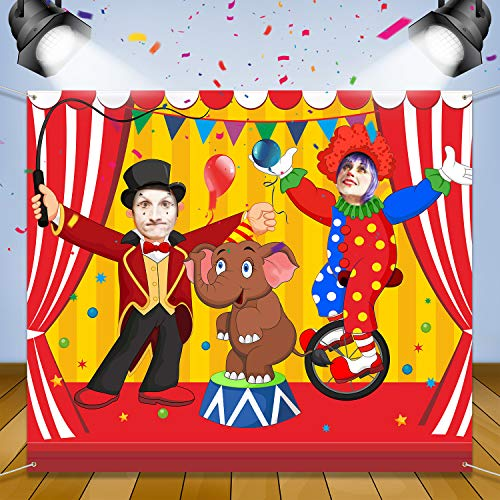 Carnival Circus Party Decoration Carnival Photo Door Banner Backdrop Props, Large Fabric Photo Door Banner para Carnival Circus Party Decor Carnival Game Supplies (Acrobacias)