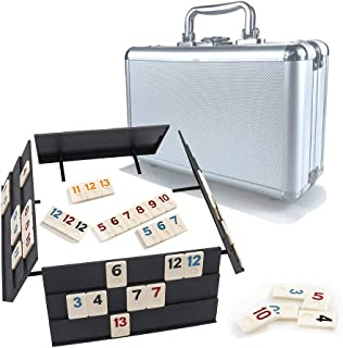 Rummy Game 106 Tiles Rummy Game Board Game Rummy Cubes Sets with Case Okey 101 Games Travel Size Suits for 2-4 Player