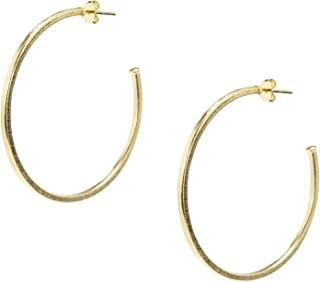 Sheila Fajl Perfect Hoop Earrings in Brush Gold Plated